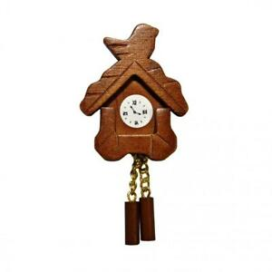Dolls House Wooden Cuckoo Clock Miniature Wall Accessory 1:12 Scale
