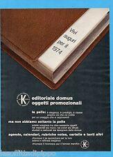 QUATTROR973-PUBBLICITA'/ADVERTISING-1973- EDITORIALE DOMUS -OGGETTI PROMOZIONALI
