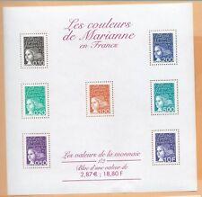 Bloc Feuillet BF41 - Les couleurs de Marianne en Francs - 2001