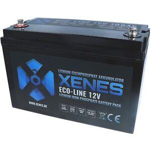 XENES ECO-Line 12V LiFePO4 100Ah 150Ah 200Ah Smart-BMS Lithium Batterie Akku