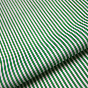 Green Stripe Polycotton Fabric Striped Lines Material Craft 3mm Per METRE