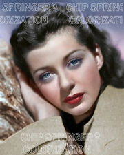 GAIL RUSSELL LEANING ON A PINE TREE BEAUTIFUL COLOR PHOTO BY CHIP SPRINGER