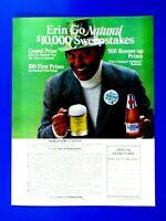 "1979 Natural Light Erin Go Natural St Paddy Irishman Original Ad 8.5 x 11"""