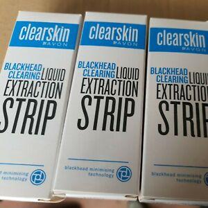 AVON CLEARSKIN BLACKHEAD CLEARING LIQUID EXTRACTION STRIP 30ML x3