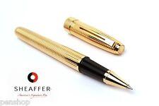 Sheaffer Prelude Signature Rollerball Pen 22K Gold Plate Diamond Square Pattern