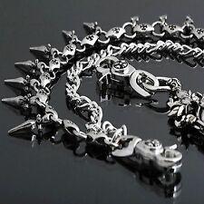 Guntwo Korean Fashion Wallet Chains - Biker Spike Double Jean Chain C0083 US