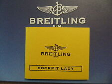 BREITLING PILOT DIVER WATCH INSTRUCTION MANUAL BOOK GUIDE BOOKLET COCKPIT LADY