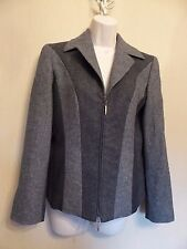 Betty Barclay UK10 EU38 US6 multi grey panel lined jacket with wool and angora