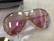 Porsche Design P8478 Aviator Sunglasses - Pink & Gold