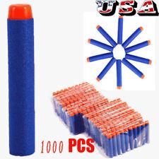 1000pcs Bullet Darts For NERF Kids Toy Gun N-Strike Round Head Blasters Blue US