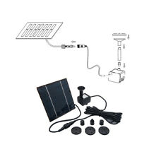 180L/H Solar Panel Powered Water Feature Pump Pool Pond Aquarium Fountain