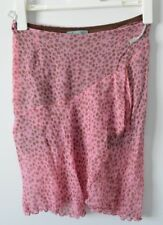 "ALANNAH HILL Skirt SZ 8 Small Silk Pink Brown Pencil ""DOTTI NERVY B"""