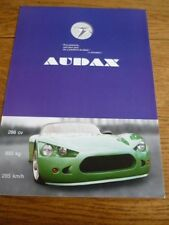 AUDAX (BMW V8 POWER)  KIT CAR SALE BROCHURE 2009 FRENCH LANGUAGE
