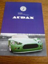 AUDAX (BMW V8 POWER)  KIT CAR SALE BROCHURE 2009 FRENCH LANGUAGE