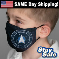 CHILD size SPACE FORCE Face Mask – INCLUDES 2 FILTERS – 30+ Custom Kids Designs
