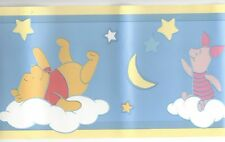 Sleepytime Winnie the Pooh and Piglet Wallpaper Border 23302