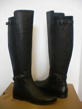 UGG DANAE Tall Black Leather Equestrian style boots US  8/ 39 New NIB 1008683