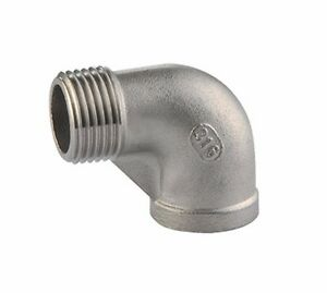 "3/8""Female x 3/8""Male street Elbow Threaded Pipe Fitting Stainless Steel 316 NPT"