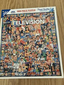 White Mountain Jigsaw Puzzle TV Television History 1000 Pieces