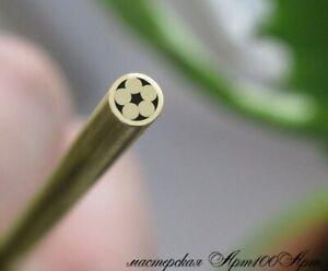 "Custom Mosaic Pin brass (4 mm x 100 mm) (5/32""x4"") for knife making supplies"