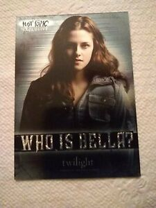 2008 NECA Twilight Hot Topic exclusive insert card HT-1 Who is Bella?