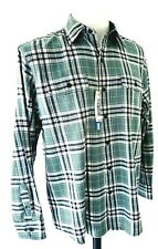 """Luxury IZOD SALTWATER Relaxed Classics Mens Green L/S SHIRT - M - Chest 46"""""""