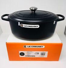 Le Creuset Signature Cast Iron 9 1/2-Qt Oval Dutch Oven, Matte Black