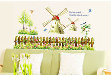 New Large Windmill Vinyl Removable Wall Stickers Mural Decal Art Decoration