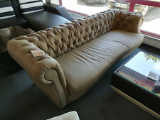 Ledersofa Sofa Couch Polster Design Chesterfield XXL Polster Sofort lieferbar