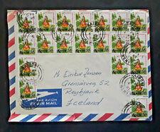 1987 Nairobi Kenya To Reykjavik Iceland Multi Franked Airmail Cover