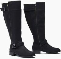 Sociology Women's Wide Calf Buckle Boots - Black