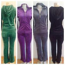 VELOUR SET Track Suit Hoddie Pants Jacket Yoga Sweats Sports Gym S M L XL 2X 3X