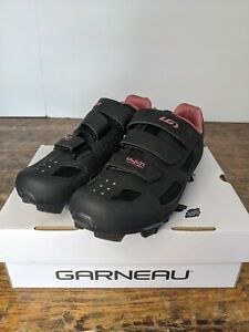 New! Louis Garneau Women's Multi Air Flex Bike Shoe Black / Pink Size 39 USA 8