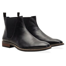 Redfoot Rawlings Mens Black Leather Slip On Chelsea Boots RRP £140 UK 9/Euro 43