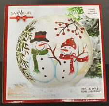 "San Miguel MR & MRS Glass Orb Lighting 6X6"" Starry Lights Included"
