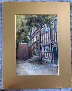 F Griffiths Original antique watercolour painting town house