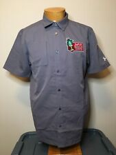 Men's M Under Armour Heat Gear Loose Hawaii Bowl Football Button Shirt