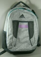 Adidas Atkins Backpack Book School Bag Gray/Onix/Lilac/Aqua NWT $45