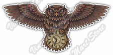 "Time Clock Owl Illuminati Masonic Symbol Car Bumper Vinyl Sticker Decal 6""X3"""