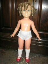 Vintage 1972 Ideal Vinyl Shirley Temple Doll - with panties, shoes and socks