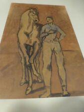 reproduction= jeune homme à cheval )=pour encadrer?? peintre célébre  PICa---O!!