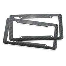 2PCS Carbon Fiber Patten License Plate Frame Tag Cover Original JDM US Standard