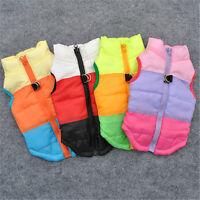 Dog Cat Pets Clothes WarmWinter Zipper Vest Coats Puppy Waistcoat Costume