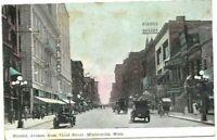 Vintage Post Card c.1909 Minn. Minneapolis Nicollet Ave Horse & Buggies