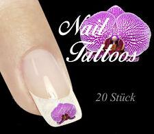 Nail Art Tattoo Orchidee Blüte Pflanze Blume 20 St. TP-02