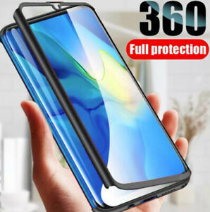 Hybrid 360° Case Cover with Glass Screen Protector for Samsung Galaxy A71