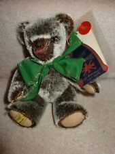 "Mint With Tags Merrythought Brown White Black 8"" Bear Made In England 76/500"
