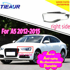 Headlight Transparent lens Cover Shell For Audi A5 4Doors 2012-2016 Right+Left
