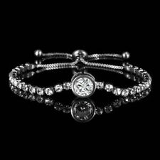 CZ Charm Crystal Silver Slider Bracelet Adjustable Bangle Women Jewelry Gift New