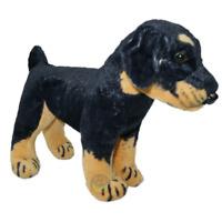 DOBERMAN PUPPY SOFT TEDDY BEAR TOY PLUSH CUDDLY DOG 33CM KIDS NEW XMAS GIFT